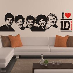 Wholesale One Direction Wall Sticker - One Direction wall Sticker 1D Poster girls Bedroom Living home Decoration Pictures Removable Wall Art wallpaper