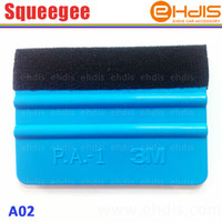 Wholesale Carbon Wholesalers - Free shipping A02 3M squeegee with felt car vinyl film wrap tools soft pp material and size 10x7.3cm