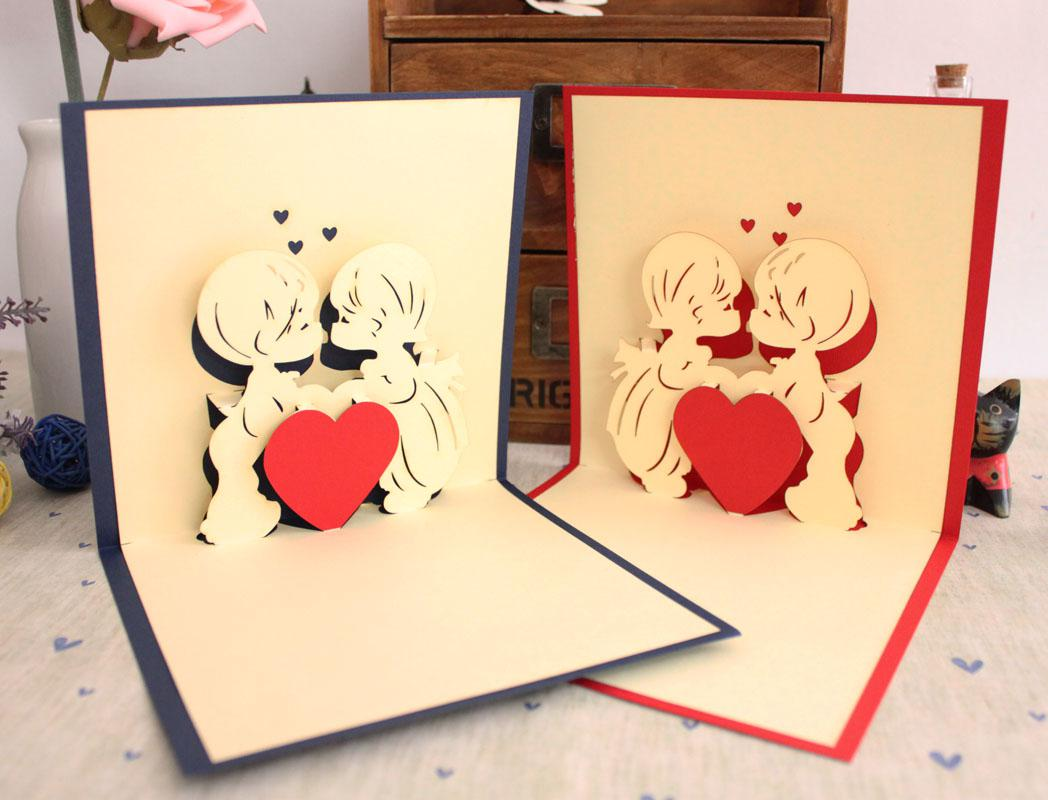 2 Designs Mixed True Love Christmas New Year Handmade Greeting Cards