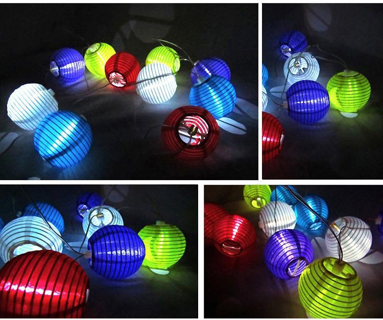 4M lange im Freien angetriebene Solarlaterne-Minilaterne-Schnur-Beleuchtung-Garten-Weihnachtsdekoration-Lampe der laternen-geben Verschiffen frei