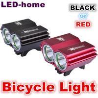 Wholesale U2 Led - NEW SolarStorm 5000 Lumen 2x CREE XM-L U2 LED Bicycle light HeadLight Battery Pack Charger free shipping