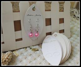 специальность слоновой кости белый картон мода ювелирные изделия упаковка повесить теги дисплей карты, серьги, ценник этикетки дисплей висит A1-014 от