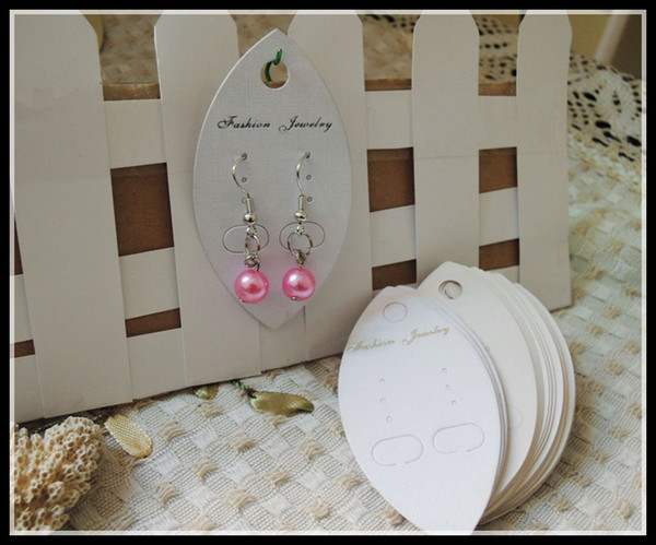 top popular specialty ivory white cardboard fashion jewelry packaging hang tags display cards,earring,price tag label display hanging A1-014 2021