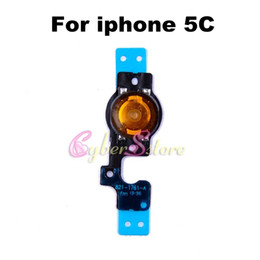Wholesale Iphone Menu Home Button - For iPhone 5C Hot Selling Home Menu Button Flex Cable Return Key Ribbon Cable Parts For iphone 5 5C