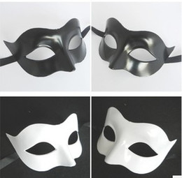 Wholesale Masquerade Mask Fox - 2017 new party mask Black and white fox Half Face Mask Masquerade Masks props free delivery