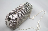 Wholesale Cheap Silver Clutch Purses - Cheap in Stock Sparkling Rhinestone Crystal Evening Bags Evening Clutch Purse Ladies Fashion Shoulder Bags EB9
