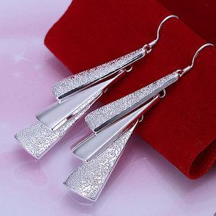 925 Silber Plating lange Design Ohrringe Tropfen Ohrring weiblichen Luxus Ohrring gutes Geschenk für Freundin