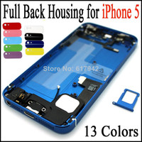 Wholesale Iphone5 Housing Assembly - For iPhone 5 5G Full Back Housing Battery Cover Housing Full Assembly Middle Frame For iPhone5 with Parts Replacement