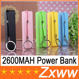 Wholesale Galaxy S4 Portable Battery Charger - 2600mah Portable Power Bank Mini USB Mobile Charger Backup External Battery for iPhone 4 5 Samsung Galaxy s3 I9300 s4 I9500 THC HZ 217