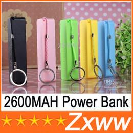 Wholesale External Backup Battery Galaxy S4 - 2600mah Portable Power Bank Mini USB Mobile Charger Backup External Battery for iPhone 4 5 Samsung Galaxy s3 I9300 s4 I9500 THC HZ 217