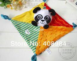 Wholesale Wholesale Panda Bear Plush - free shipping Lamaze infant panda towel kid toys with bell
