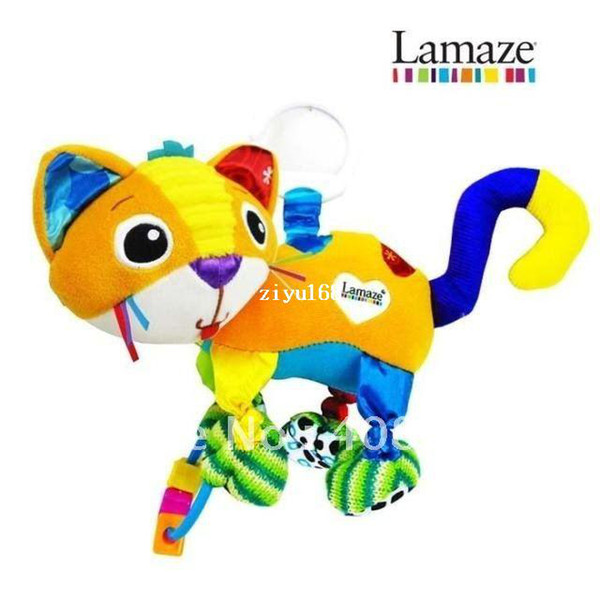 Free shipping Lamaze Cat Baby Developmental Lovely Baby Toy rattle bed bell