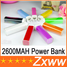 Wholesale External Charger Note2 - 2600MAh Power Bank Charger Lipstick Portable Emergency External Battery Charger for Samsung Galaxy S5 i9600 Note2 iphone 5 5S 4s HTC HZ 216