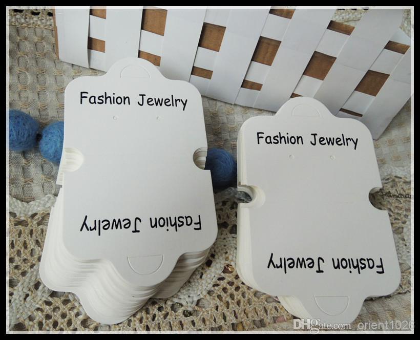 Specialyy Ivory White Cardboard Mode Smycken Halsband Förpackning Hängande Taggar Display Kort, Örhänge, Pris Tag Etikett Display Hängande A1-017
