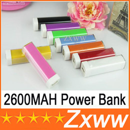 Wholesale Emergency Charger Lipstick - 2600mAh Power Bank Charger Lipstick Portable Emergency External Battery Charger for Samsung Galaxy S5 i9600 S4 Note 2 iphone 5 5S 4 HZ 216