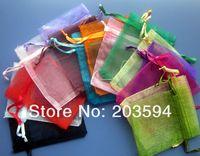 sacos de jóias de embalagem de organza venda por atacado-500 pçs / lotes Sacos De Organza Sacos De Organza Drawable 7x9 cm Sacos De Embalagem De Jóias de Casamento, Bolsas de Presente de Casamento