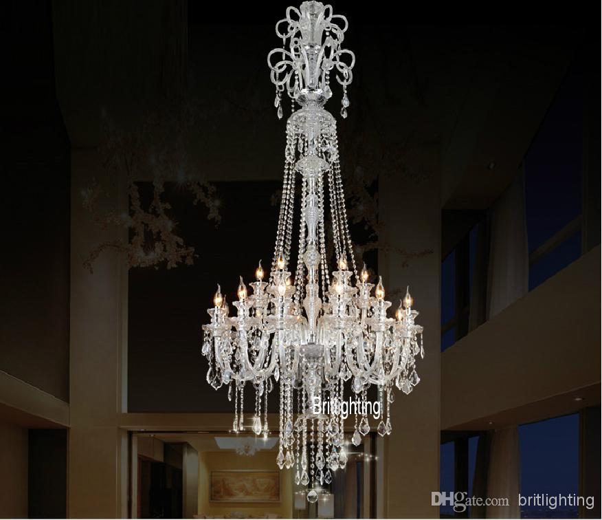 Çin avizeler için büyük mutfak avize kristal kolye avizeler yemek odası cam sanayi avizeler için lüks kapalı