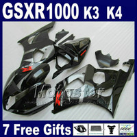 ingrosso set di plastica per moto-Set carene moto per SUZUKI GSX-R 1000 K3 2003 2004 GSXR 1000 03 04 GSXR1000 kit carena in plastica ABS nero lucido SF45