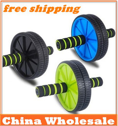 Wholesale Roller Mat - Free Shipping Abdominal Wheel Ab Roller With Mat For Exercise Fitness Equipment beauty abdominal thin abdomen Drop Shipping
