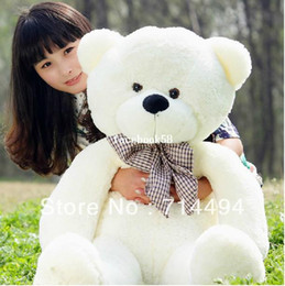 $enCountryForm.capitalKeyWord NZ - Wholesale 120cm teddy bear plush toys high quality and low price skin holiday gift birthday gift valentine gift FREE SHIPPING