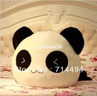 Wholesale Lumbar Pillow Panda - 28cm Cushion Lumbar Pillow Panda Plush Toy pillow Cute Panda Comfortable lint Toy Free Shipping