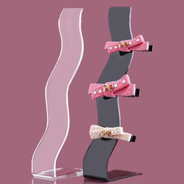 Wholesale Display Stands Headband - Fashion Headband Headdress Displays Holder Jewelry Acrylic Rack Shelf S-shaped Hairpin Hair Accessories Storage Organizer Stand
