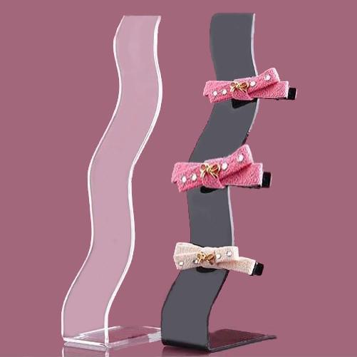 best selling Fashion Headband Headdress Displays Holder Jewelry Acrylic Rack Shelf S-shaped Hairpin Hair Accessories Storage Organizer Stand