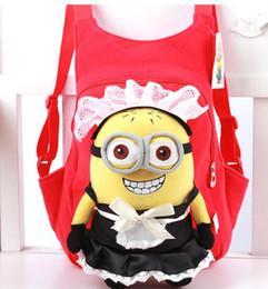 Wholesale Despicable Backpack School - 3D Eyes Despicable Me School Bag Plush soft backpack bag Cartoon Children bags