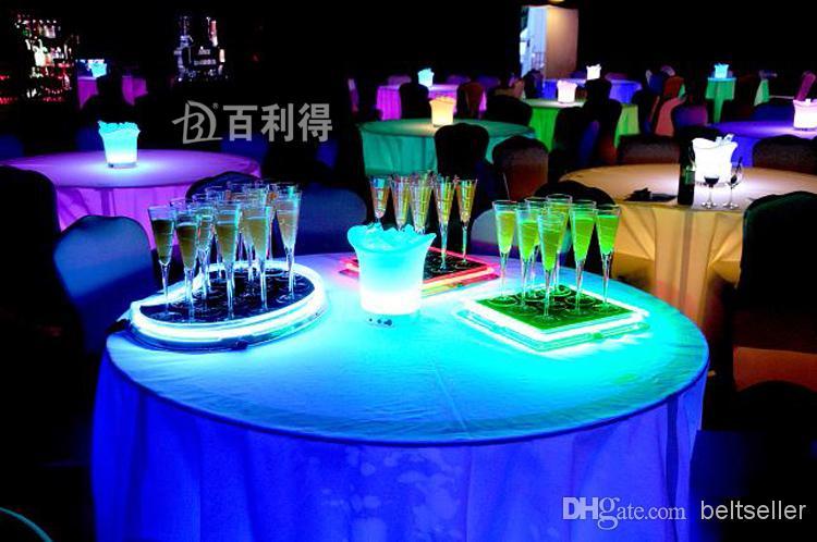 6.8 * 18 CM Akrilik Sıvı aktif LED Şampanya Cam Bardak light up LED Flaş Şampanya Cam Içecek Fincan kulübü bar düğün kaynağı