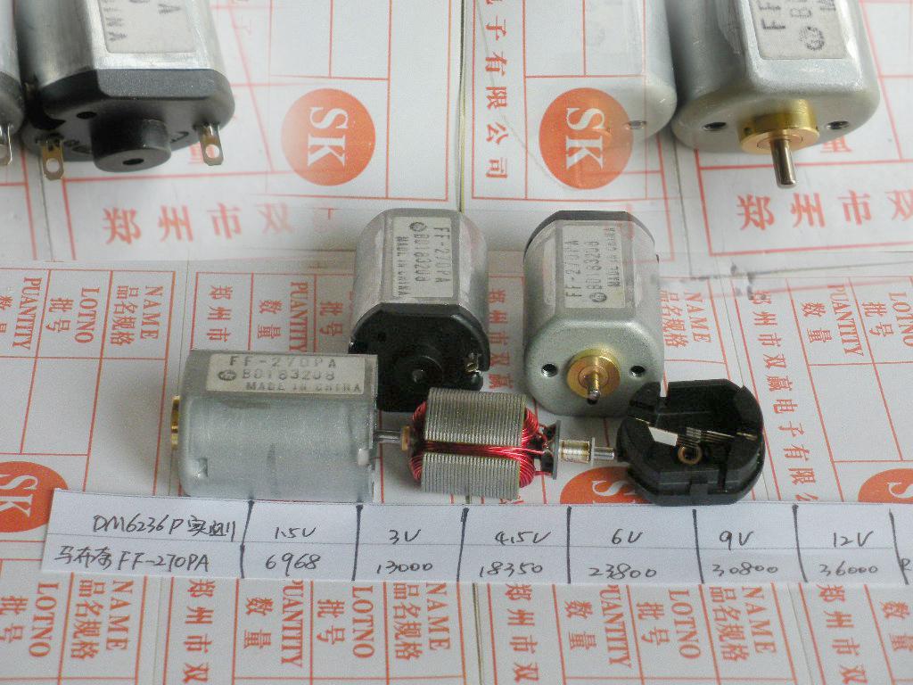 2018 270 Motor Mabuchi Ff 270pa High Speed Dc Small Motor From ...
