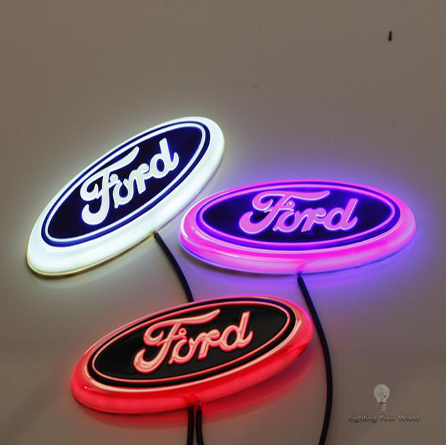 ford new car accessory focus mondeo 4d led car logo lamp auto led emblem lamp rear logo badge. Black Bedroom Furniture Sets. Home Design Ideas