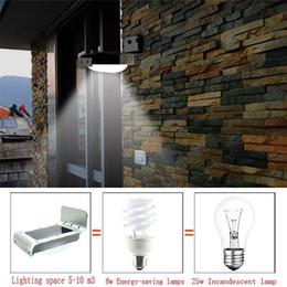 Wholesale Sound Sensor Activates Led - Solar motion lamp 16 LED lights energy saving outdoor  garden wall Ray Sound Sensor Activated light Outdoor led Waterproof for free shipping