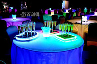 freies verschiffen gläser porzellan großhandel-6,8 * 18 CM Flüssigkeit aktive LED Champagne Glas leuchten LED-Blitz Champagner Glas Softdrink Tasse LED-Blitz cup club bar hochzeit versorgung
