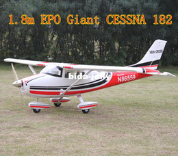 Wholesale Cessna Rc Rtf - GIANT rc trainer 6ch 2.4G EPO 1.87m Cessna 182 RTF with FLAPS electric rc airplane model