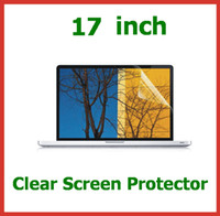Wholesale Notebook Screen Sizes - 200pcs Universal 17 inch Ultra Clear LCD Screen Protector for Laptop Notebook PC Size 366x228.5mm Protective Film Wholesale by DHL