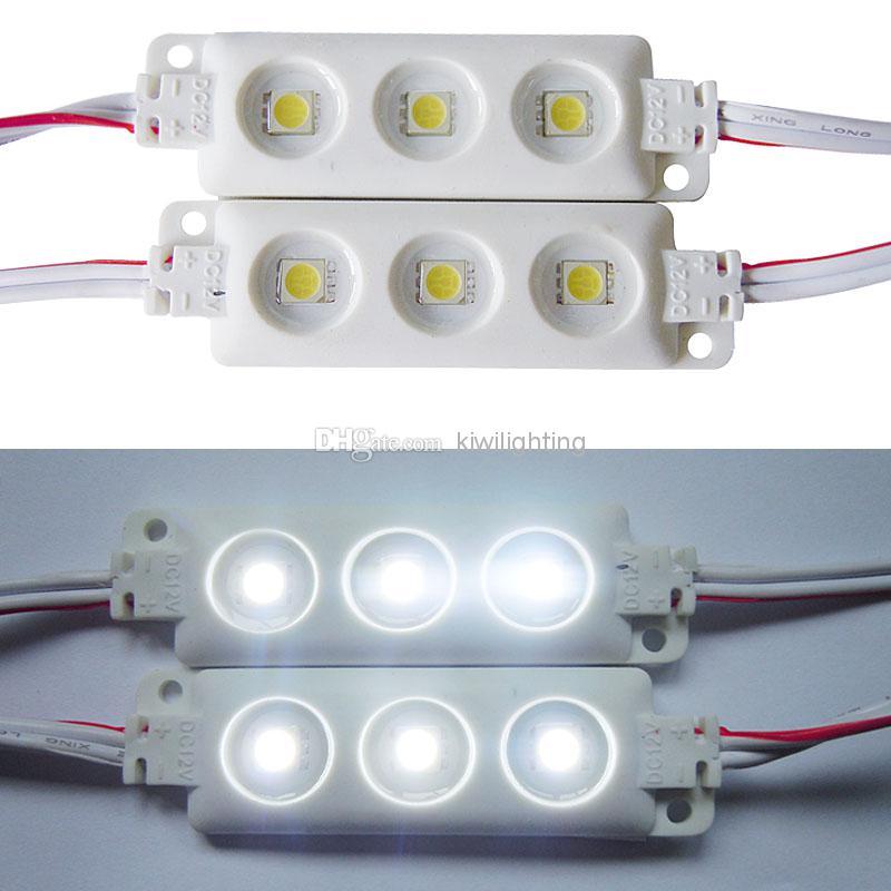 무료 배송 5630 5050 SMD 3 / 4 개의 LED 모듈 간판 라이트 방수 화이트 라이트 12V Led 빛