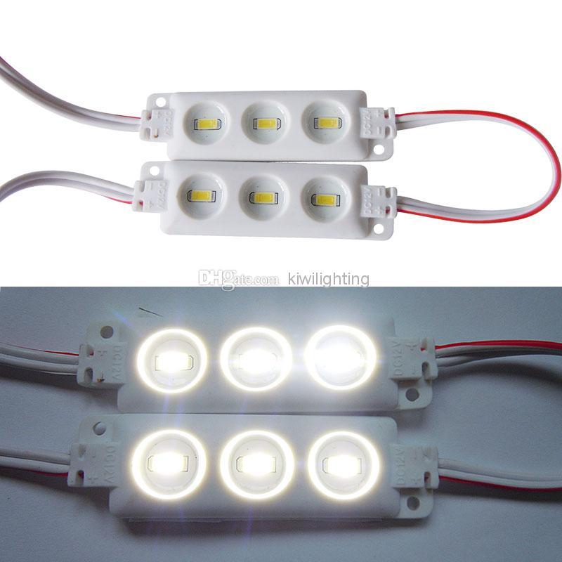 شحن مجاني 5630 5050 SMD 3/4 المصابيح وحدة لافتة للماء الخفيف الضوء الأبيض 12V الصمام الخفيفة