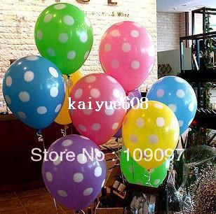 Wholesale 12 Polka Dots Balloons Printed Wedding Birthday Party Decorations For Helium Balloon Decorating 18th From Kaiyue608