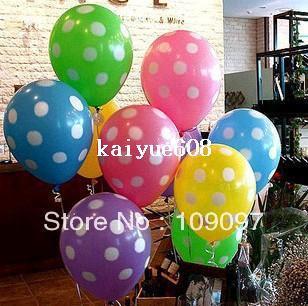 Wholesale 12 Polka Dots Balloons Printed Wedding Birthday Party