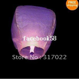 Wholesale Sky Balloon Free Shipping - 2012 Lanterns 20pcs Sky Lanterns Fay Balloon Festival Wish Night Lights,paper lantern Free Shipping