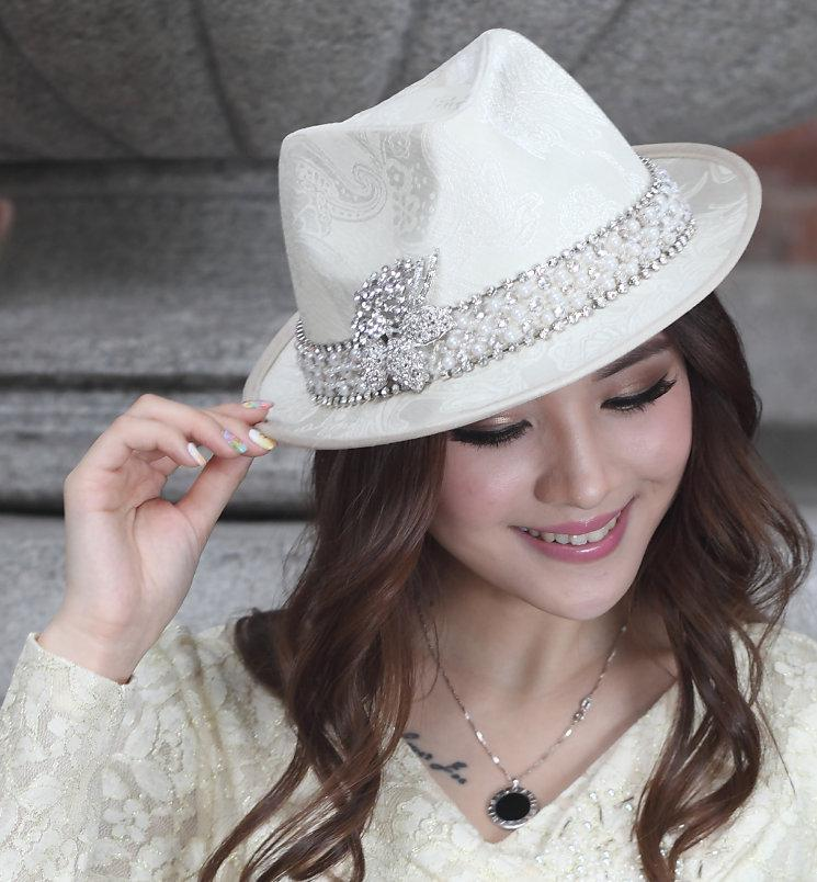 4fed2e0ab8d Fashion Church Hat Women Dress Hat Dress Kentucky Derby Hat Ladies  100% Polyester  Satin White Hats FREE EMS Shipping Womens Hats Hats For Women From ...