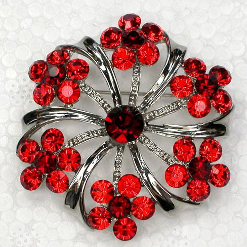 Wholesale Crystal Rhinestone Bridesmaid Wedding party prom Girl Flower Brooch Pin Fashion jewelry gift C816