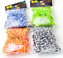 Wholesale Diy Silicone Watch - 600pcs Bands 24pcs S clips Rainbow Loom Bands Kit Loom Twistz DIY Rubber Silicone Mix Color for Wrist Bracelet Watch Free DHL Shipping