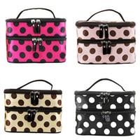 Wholesale Makeup Holder Bag - S5Q Hanging Toiletry Travel Wash Organizer Case Cosmetic Makeup Dot Bag Holder AAADBL