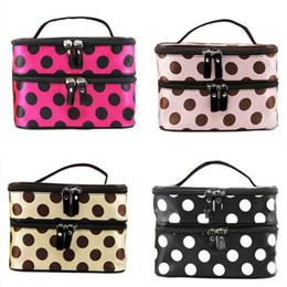 Wholesale Makeup Bag Dots - S5Q Hanging Toiletry Travel Wash Organizer Case Cosmetic Makeup Dot Bag Holder AAADBL