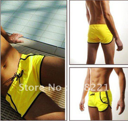 $enCountryForm.capitalKeyWord Canada - Free Shipping Hot Nice Mens Swimming Swim Trunks Shorts Slim Super Sexy Swimwear Fit Clear Promotion 5 Colors 3 Sizes M L XL