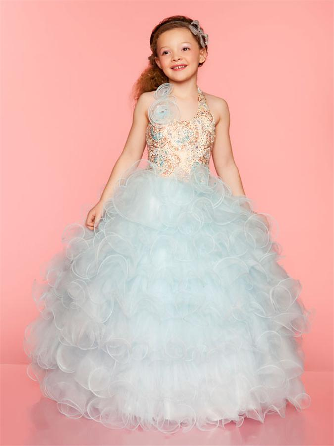 Princess Beauty Ball Gowns Halter Sequin Bodice And Natural ...