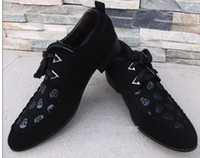 2014 designer new black grind arenaceous lace-up cusp dress schuhe men's casual business schuhe groom wedding shoes yzs168