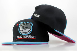 Wholesale Cheap Yums Snapback Hats - YUMS REPUBLC Snapbacks Black Snapback Brand Snap Backs Hats 2014 New Summer Snap Back Caps Cheap Womens Mens Sports Cap Flat Hat on Sale
