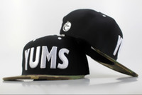 YUMS Snapbacks White Letter Snapback Fashion Snap Backs Hats 2014 Camo Brim Snap Back Caps Cheap Womens Hommes Sports Cap Flat Hats Mix Order